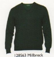 100% Merino Wool V Neck Sweater by alan Paine -Updated Fit - Total Easy Care - Millbrook - 128S63